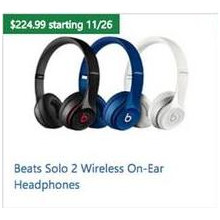 Beats Solo 2 Wireless On-Ear Headphones (Assorted Colors)