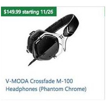 V-MODA Crossfade M-100 Headphones (Phantom Chrome)