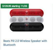 Beats Pill 2.0 Wireless Speaker w/ Bluetooth (Assorted Colors)