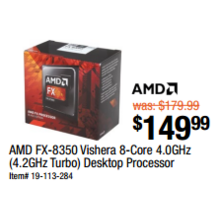 AMD FX-8350 Vishera 8-Core 4.0GHz Desktop Processor