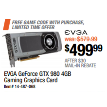 EVGA GeForce GTX 980 4GB Gaming Graphics Card