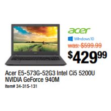 Acer Intel Ci5 5200U NVIDIA GeForce 940M (E5-573G-52G3)