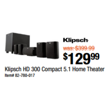 Klipsch HD 300 Compact 5.1 Home Theater