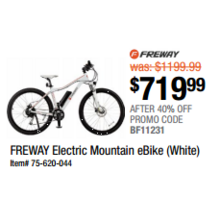 Freway Electric Mountain eBike (White)