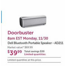 Dell Bluetooth Portable Speaker (AD211)