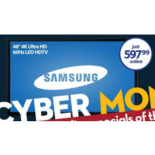 "Samsung 48"" 4K 60Hz Ultra HD LED HDTV"