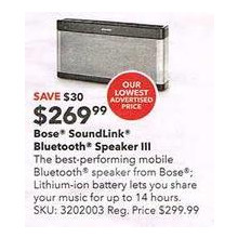 Bose - SoundLink Portable Bluetooth Speaker III - Silver/Black