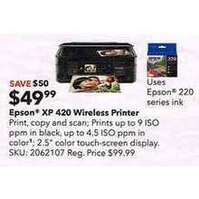 Epson XP-420 Wireless All-In-One Printer