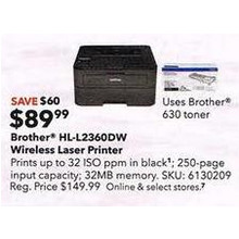 Brother HL-L2360DW Wireless Mono Laser Printer