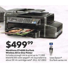 Epson WorkForce ET-4550 EcoTank Wireless All-In-One Printer