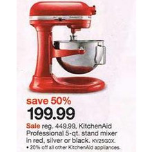 KitchenAid Professional 5-qt. Stand Mixer (Red)