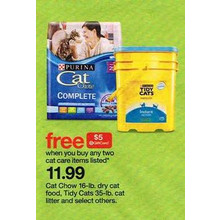 Cat Chow Cat Food (16-lb.) + $5.00 Gift Card