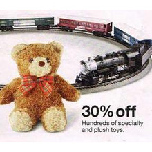 Specialty & Plush Toys 30% OFF