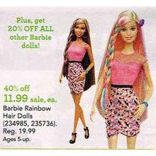 Barbie Dolls 20% OFF