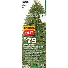 Dual LED 7.5-ft. Pre-Lit Denison Pine Christmas Tree