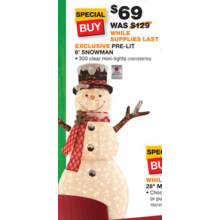 Home Accents Holiday 6-ft. Pre-Lit Big Snowman