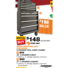 Husky 8-Drawer Tool Chest Combo