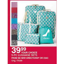 ND New Directions 5-PC Luggage Sets