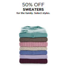 50% Off Sweaters for the Family