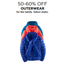 50-60% Off Outerwear for the Family