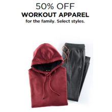 50% Off Workout Apparel for the Family