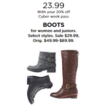 Boots for Women & Juniors with 20% Off Code DEALSEEKER