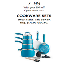 Cookware Sets (Select Styles) with 20% Off Code DEALSEEKER