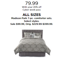 Madison Park 7-pc. Comforter Sets with 20% Off Code DEALSEEKER