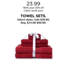 Towel Sets (Select Styles) with 20% Off Code DEALSEEKER