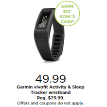 Garmin Vivofit Activity & Sleep Tracker Wristband + Earn $15 Kohl's Cash