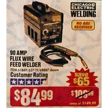 Chicago Electric 90A 120V Flux Cored Welder