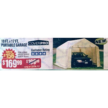 Cover Pro 10 x 17-ft. Portable Garage