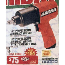 Earthquake 1/2-in. Professional Air Impact Wrench