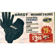 Hardy Mechanic's Medium Gloves