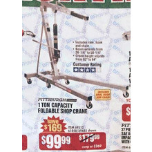Pittsburgh 1-Ton Capacity Foldable Shop Crane