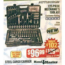 Pittsburgh 225-pc. Mechanics Tool Set