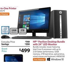 "HP Pavillion Desktop Bundle + 24"" LED Monitor"