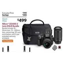 Nikon D3400 DSLR Bundle