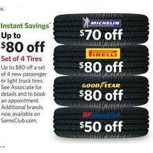 Up to $80.00 Off Set of 4 Tires