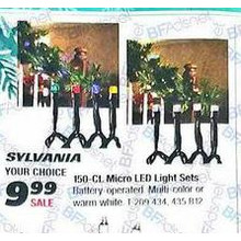 Sylvania 15-ct. Micro Warm White LED Christmas Light Set