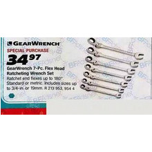GearWrench Ratcheting 7-pc. Metric Wrench Set