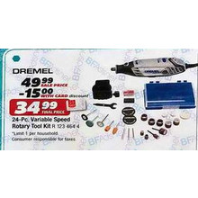 Dremel Variable Speed Rotary 24-pc. Tool Kit