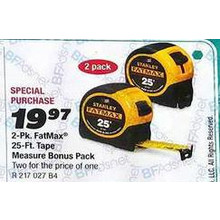 Stanley Fatmax 25-ft. Tape Measure (2-pk.)