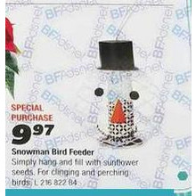 Wild Bird Feeder Snowman Head