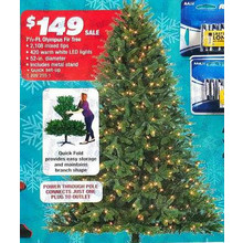 Holiday Wonderland 7.5-ft. Artificial Olympus Fir Christmas Tree