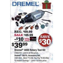 Dremel 180-pc. All-Purpose Rotary Accessory Kit