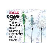 Solar Shooting Tree Light Stake