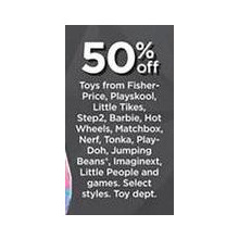 50% Off Barbie Toys