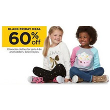 60% Off Girls Character Clothes (Assorted)