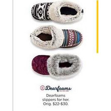 Dearfoams Womens Slippers
